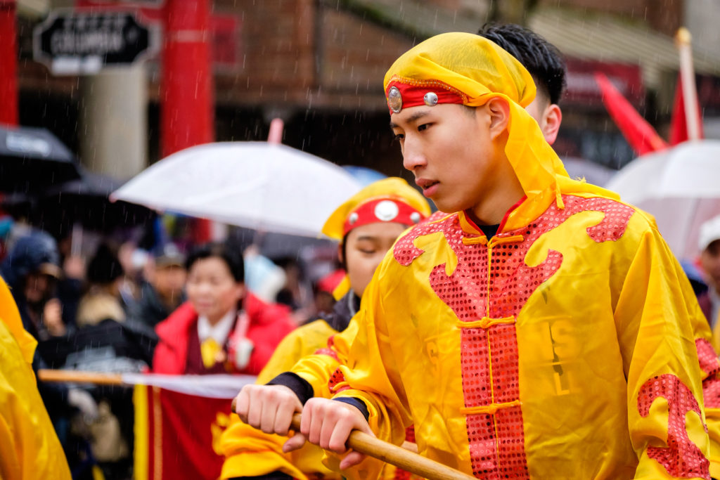 Chinese New Year parade performer